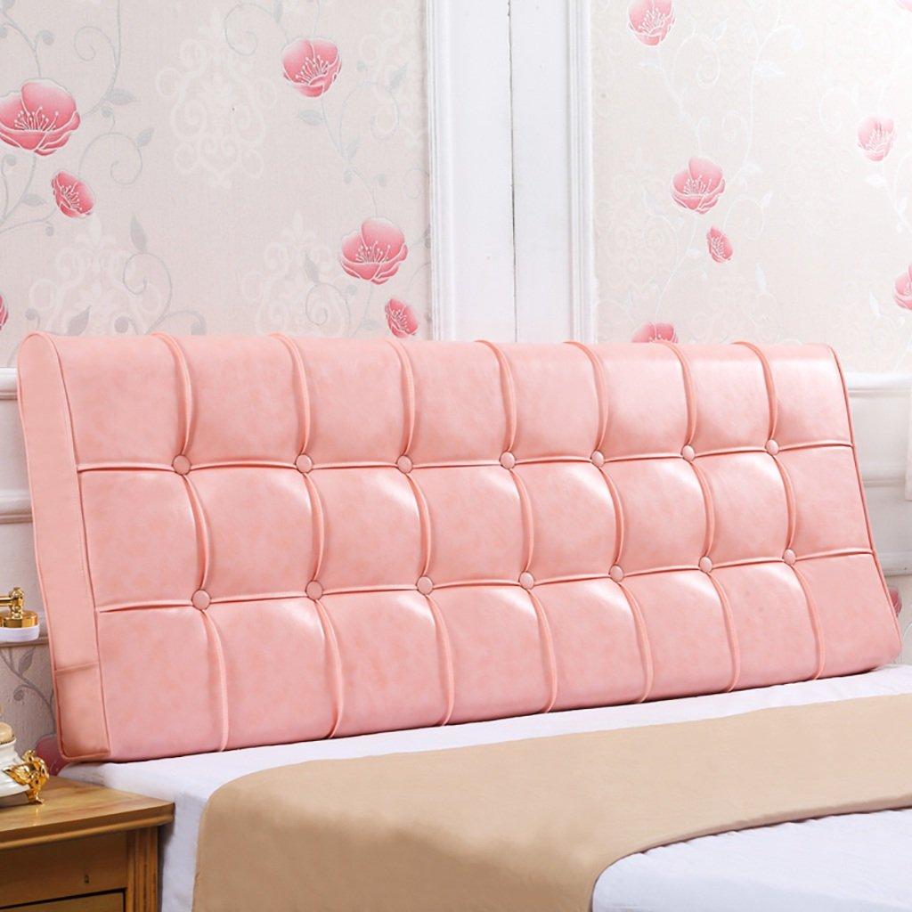 QIANGDA クッション ベッドの背もたれオイルワックスベッド背もたれポジショニングサポートピローベッドベッドでのテレビ視聴用クッション、7色8サイズあり ( 色 : ピンク ぴんく , サイズ さいず : 160*55*12cm ) B0797LXFJK 160*55*12cm|ピンク ぴんく ピンク ぴんく 160*55*12cm