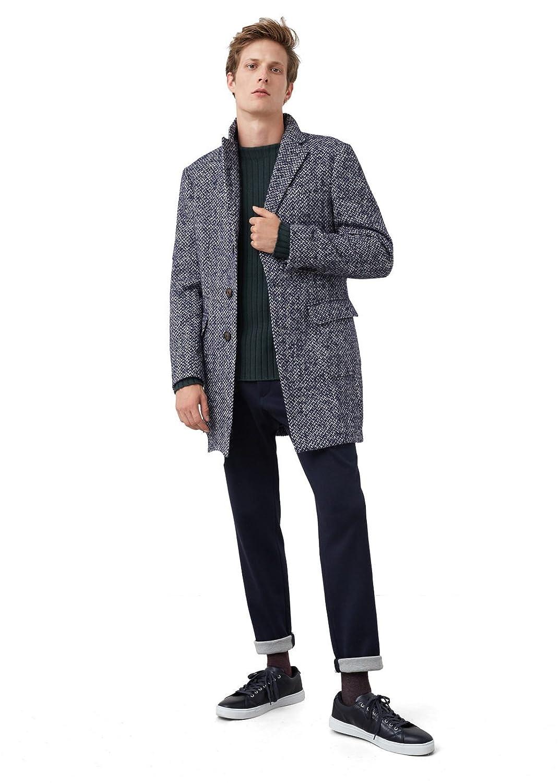 MANGO MAN - Tweed-mantel aus Jacken woll-mix