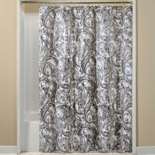 Amazon.com: Black and White Paisley Peva Shower Curtain