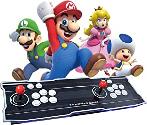 MOSTOP 3D & 2D Arcade Video Game Console 2680 Games in 1 Pandora's Box 180 3D Games 1080P HD 2 Players Arcade Machine with Double Joystick Support Expand 6000+ Games (2680 Line)