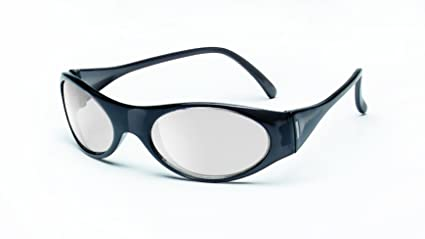 9e08f455a210 Image Unavailable. Image not available for. Color: MCR Safety FB119  Frostbite Safety Glasses with Frosted Black Frame and Indoor/Outdoor Clear  Mirror