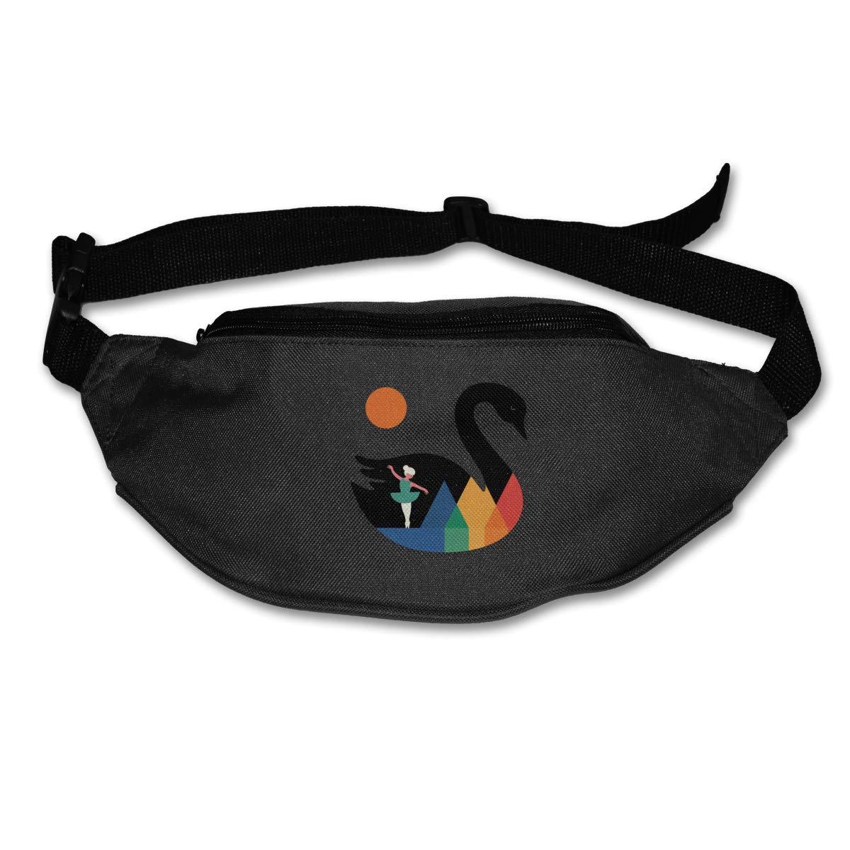 Swan Dance Sport Waist Packs Fanny Pack Adjustable For Hike