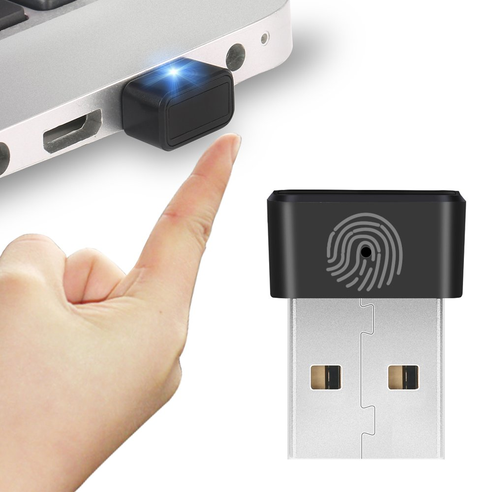 atolla Mini Portable USB Fingerprint Reader for Windows 10/8/8.1/7 Hello 360°Touch Speedy Matching Biometric Recognition Sign in Compatible by ATOLLA