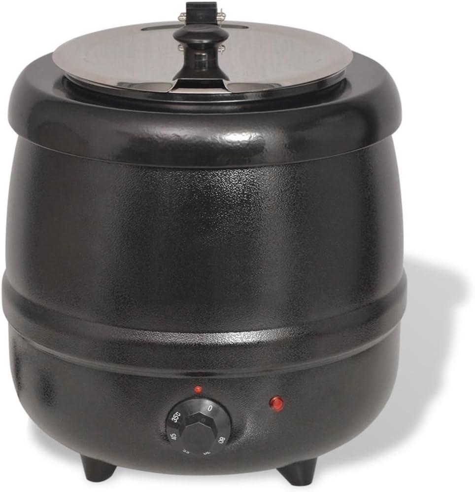 vidaXL 50534 - Olla eléctrica para Sopa (400 W, 10 L, Acero ...
