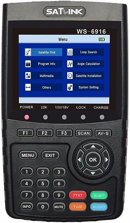 Satfinder SF 3000 digital con Pantalla LCD SAT Finder SF-3000 con el comp/ás y detecci/ón por Sat/élite