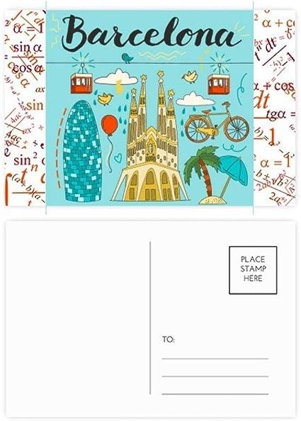 Barcelona - Juego de tarjetas postales con diseño de Sagrada Familia, 20 unidades: Amazon.es: Oficina y papelería