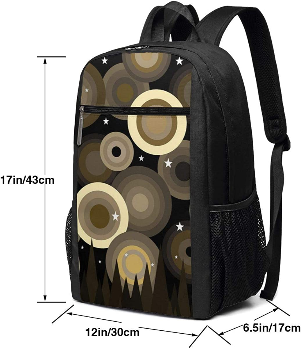 XTYND556 Golden Starry College Commuter Backpack Large Capacity Laptop Bag 17 Inch Travel Bag