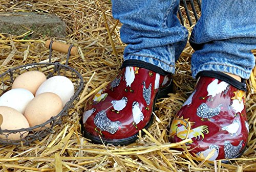 Sloggers Rain and Garden Shoe With Chickens