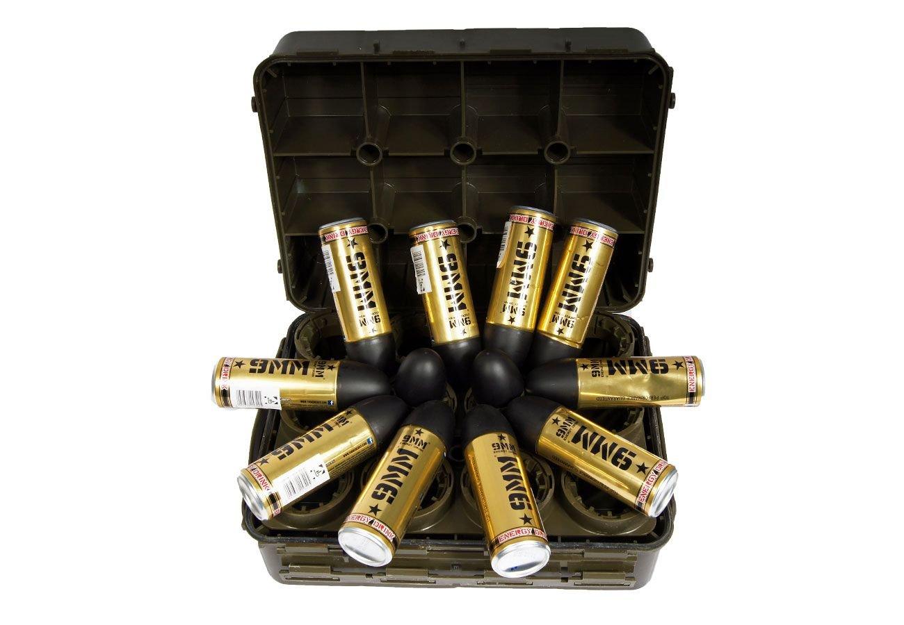 12er Set Energy-Drink 9mm 16,60€/L und GRATIS Transportbox Geschenkset