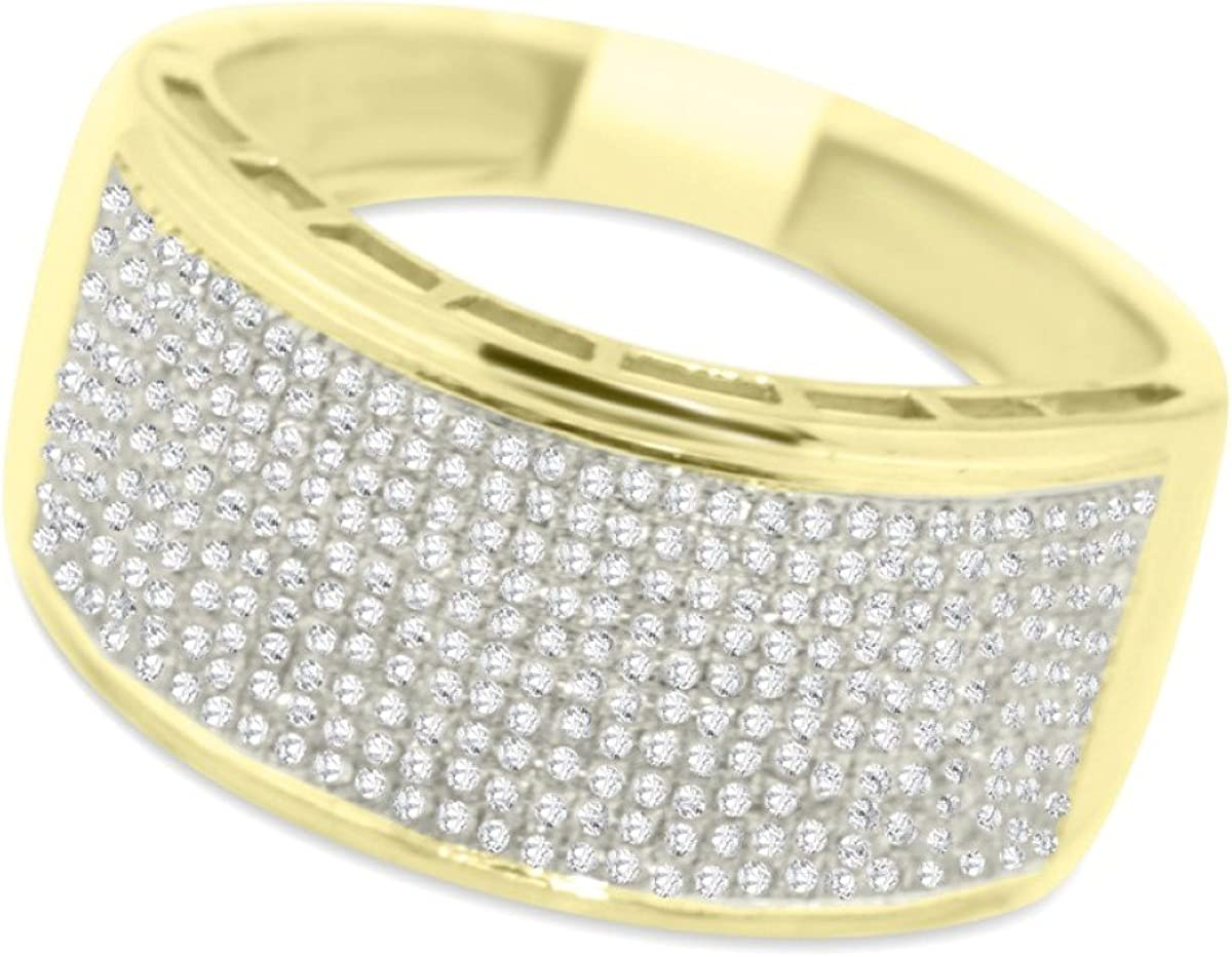 This is an image of Midwest Jewellery 330K Gold Wedding Band Extra Wide Mens 330mm 30.630