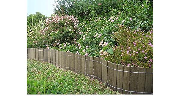 Mini valla/bordura en madera composite 2, 50 m x20 cm. Color verde ...