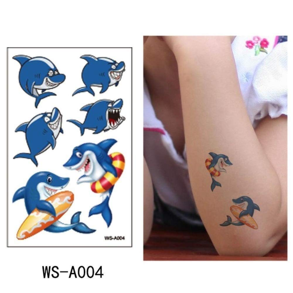 adgkitb Etiqueta engomada Temporal del Tatuaje del tiburón 5pcs ...