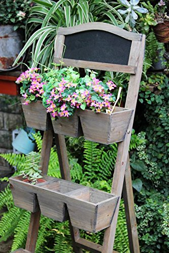Wood Plant Stand / Flower Shelf for Outdoor or Greenhouse, Three Tiers Product SKU: - Cst Tier