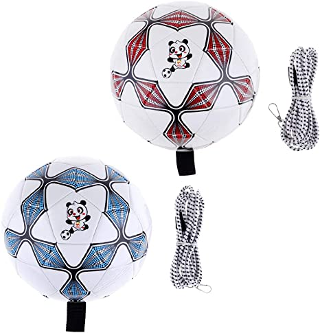 Baoblaze 2X Balón de Fútbol con Cuerda Elástica para Entrenamiento ...