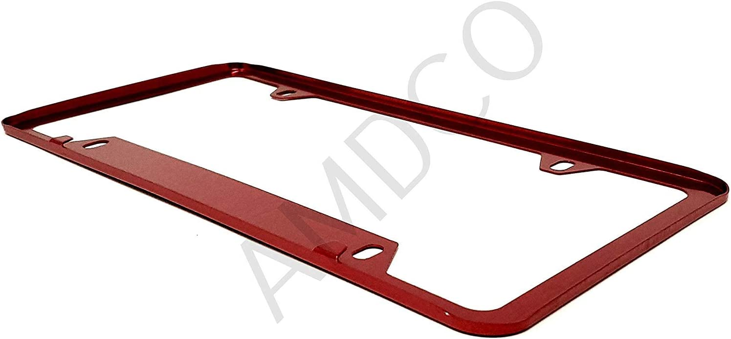 AMDCO RED Pack of 1 for Mustang Fiesta st rs Focus gt License Plate Cover Holder Frame Badge Stickers Decals with Strong 3M Includes Instructions Measure Before Purchase Fitment