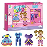 Kids Fused Beads Learning Toys - 826 Pieces of Beads, Tweezers, Peg Boards, Ironing Paper,Card Increative Educational Toys for Girls Boys by Hanmun