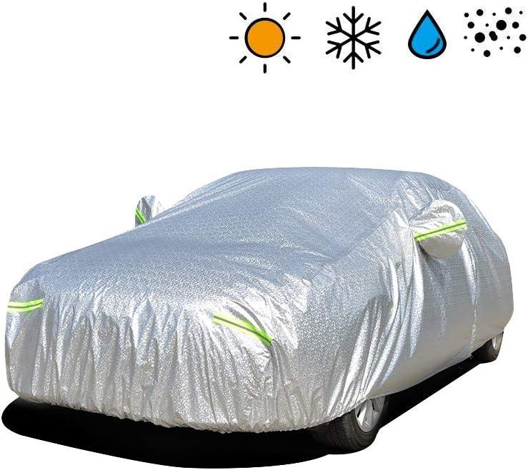 : 4.8 * 1.8 * 1.5m /última versi/ón a la Nieve Cubierta Impermeable de Tama/ño Completo a Los Rayos UV Funda para Sed/án Exterior Resistente al Viento a la Lluvia 3L+ VISLONE Funda de Coche