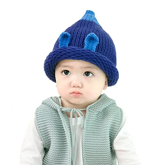 AISI bebé Kid infantil conejo patrón para tejer lana gorro de ...
