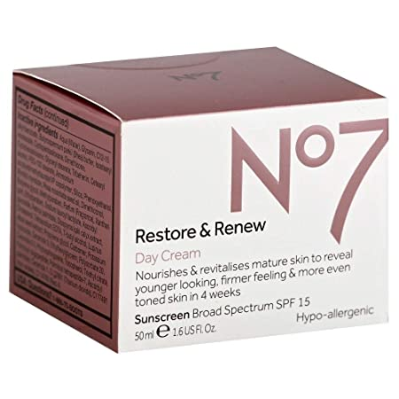 Boots No7 Restore Renew Day Cream SPF 15 1.6 oz