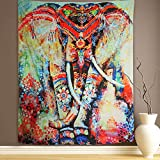 """Wall Hanging Tapestry Elephant Tapestry Mandala Tapestry Bohemian Tapestry Wall Tapestry Hippie Tapestry Beach Tapestry Indian Dorm Decor Tapestry (M51.2""""X59.1"""", 9#Color elephant)"""