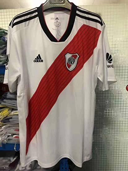 82521098f River Plate Copa Libertadores Champion Soccer Jersey 2018-2019 (White, S)