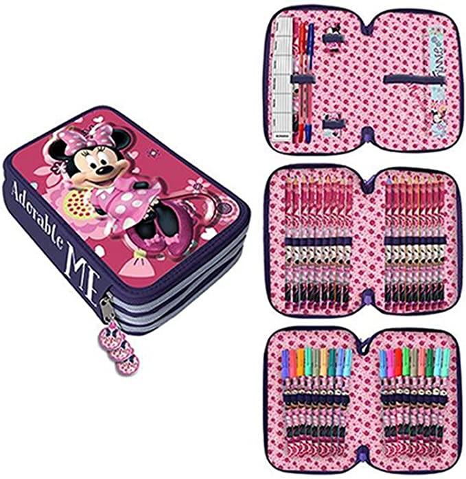 Astro- Minnie Mouse de Disney Estuche plumier con Tres Pisos (AST1552): Amazon.es: Juguetes y juegos