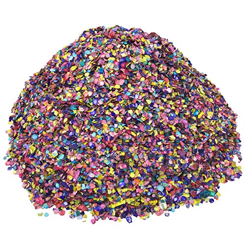 1.20 pounds (540 Grams) of Colorful Mexican Confetti | Biodegradable Paper Flakes for a Great Fiesta | Recycled Multicolor Decoration]()