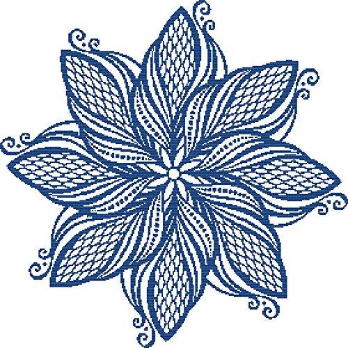 Elegant Medallion Number 2 Cross Stitch Pattern -