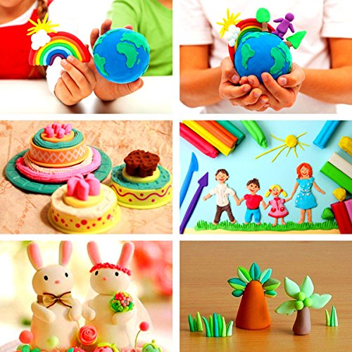 MAZIMARK-Children Kids 15 Pcs 12 Colors Rubber Mud Clay 3D Plasticine Safety Cutter Model by MAZIMARK