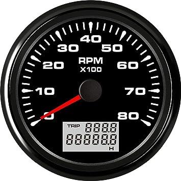 85mm GPS Speedometer Digital Odometer Car Truck Boat Marine Gauge 8Colors LED UK