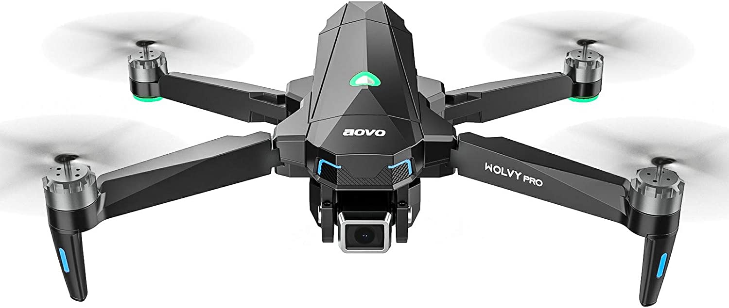 aovo GPS Drone with 4K Camera for Adults Beginners, 30 mins Flight Time, Brushless Motor, UHD FPV RC Drone Quadcopter Auto Return Home Follow Me Foldable Drones