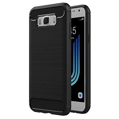 pretty nice 3fb94 59e12 AICEK Samsung Galaxy J5 2016 Case, Samsung J5 2016 J510FN Black Silicon  Soft TPU Case Premium Anti Slip Scratch Resistant Case Carbon Fiber Cover  for ...