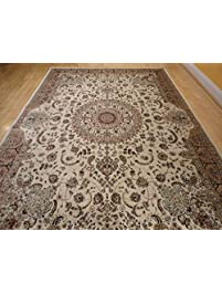 stunning silk rug persian traditional area rugs 7x10 living dining room ivory rugs luxury 6x9 silk