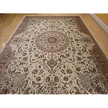 Stunning Silk Rug Persian Traditional Area Rugs 5x8 Living Room Rug Ivory  Rugs Luxury 5x7 Silk