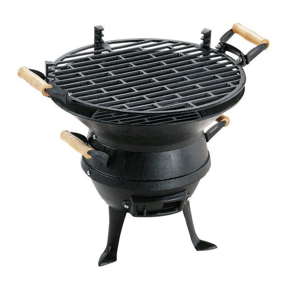 Portable Cast Iron Fire Pit Charcoal BBQ Grill Garden Patio Camping Barbecue New! World Quality