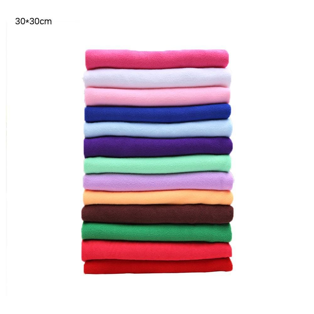 Pink Rose Dream Microfiber Towel Kitchen Wash Auto Car Home Cleaning Wash Clean Cloth (25 x 25cm)