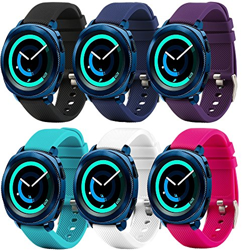 For Samsung Gear Sport band Samsung Gear S2 Classic band Garmin Vivoactive 3 band Soft Silicone Sport for Samsung Gear S2 Classic SM-R732 & SM-R735,Quick 20mm Smart Watch by Molitec