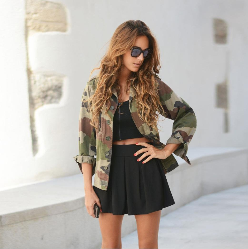 Strand Jacke SO-buts Sommer Damen Sweatshirt Camouflage S-XL Camouflage Cardigan Top Lose Schal Bluse Sonnenschutz Jacke