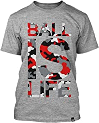 Ballislife Original Grey/Camo Red Tee