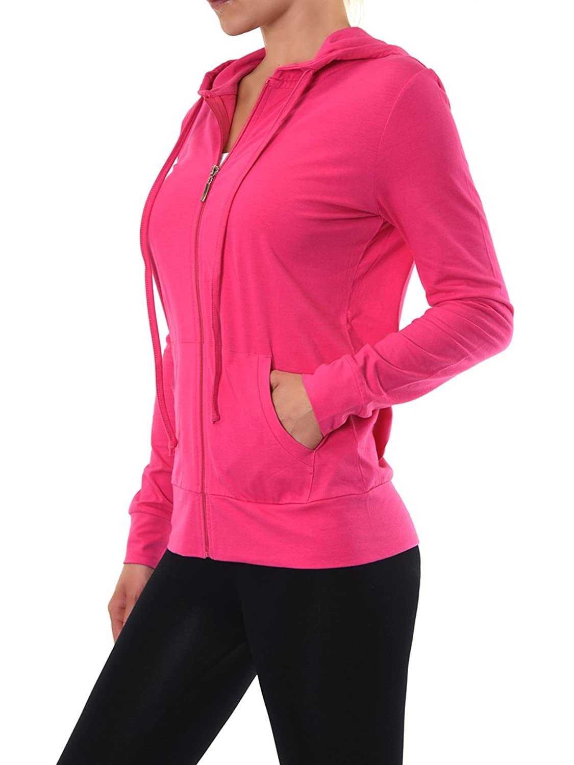 Teejoy Womens Cotton Hoodie Jacket Image 2