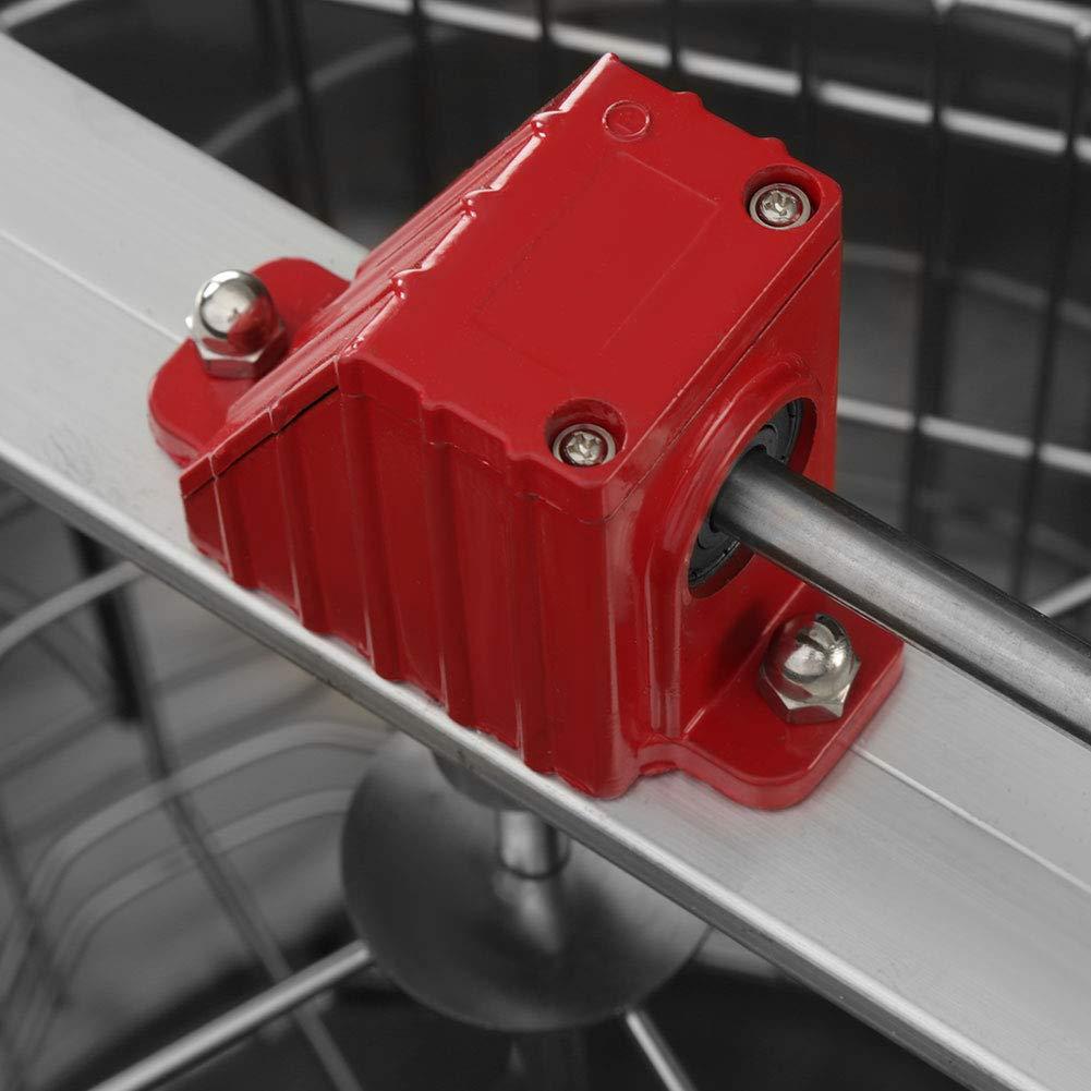 Equipo de Apicultura Gran Capacidad Extractor de Miel de Acero Inoxidable Extractor de Miel de Abejas Cocoarm 4 Marco Extractor de Miel Manual