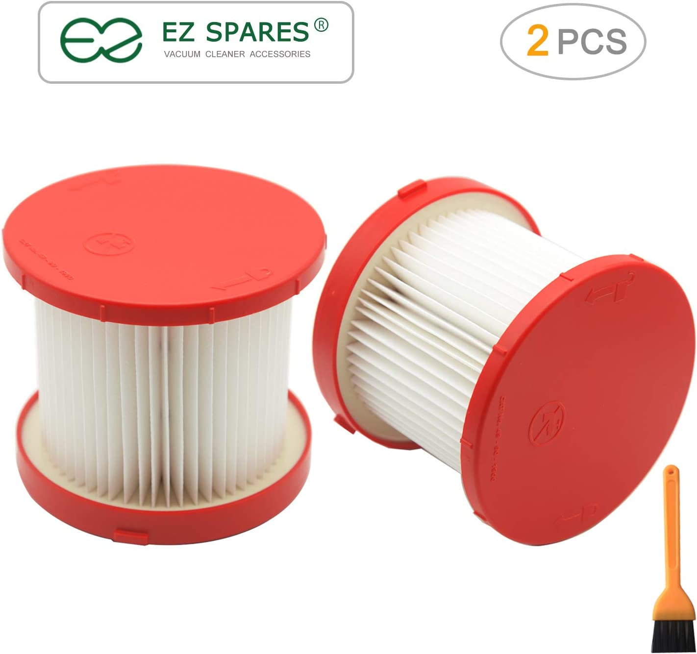 EZ SPARES 2pcs Replacements for Milwaukee,49-90-1900 Filter,Wet/Dry 0780-20 or 0880-20 Hepa Kit Attachment