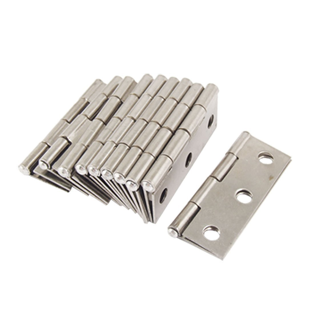 Onwon 10 Pcs Folding Butt Hinges Silver Tone Home Furniture Hardware Door Hinge