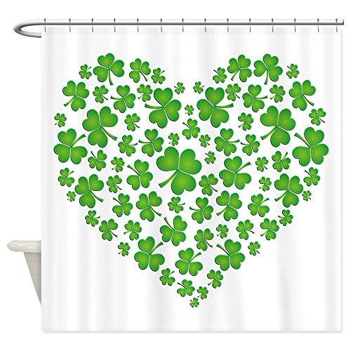 CafePress - Irish Heart - Decorative Fabric Shower - Boston Target St