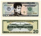 American Art Classics Prince $20.00 Limited Edition Novelty Twenty Dollar Collectible Bills - Pack of 100 - Best Gift Or Keepsake for Lovers of Prince