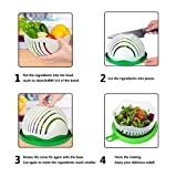 Axraser Salad Cutter Bowl | Family-Sized Salad