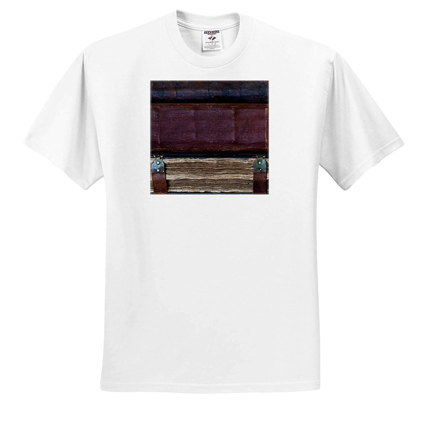 Objects Books Image of Three Ancient Books Stacked one Upon The Other T-Shirts 3dRose Alexis Photography