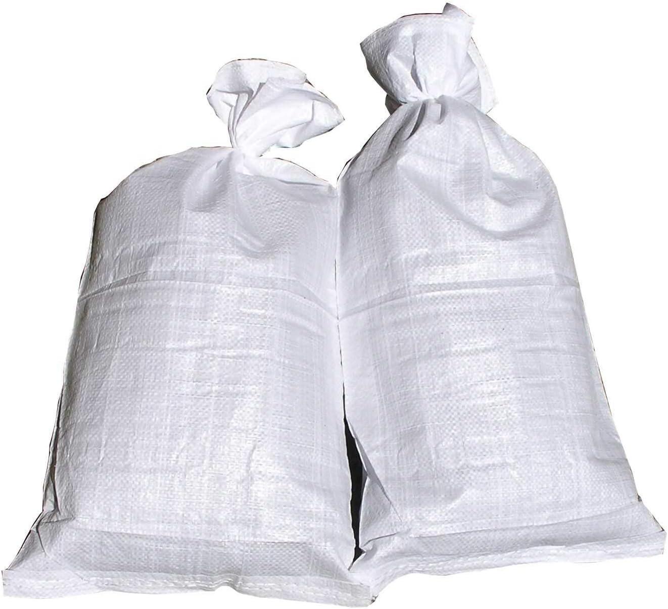 80 Hochwasser Sandsäcke PP Sandsack Hochwassersack Hochwasserschutz weiß 30x60cm
