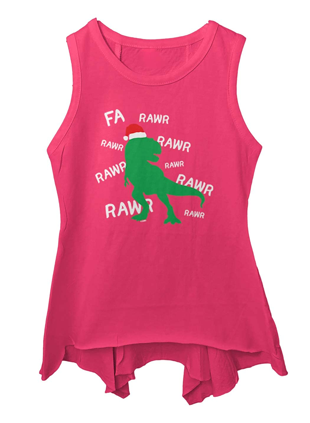 FA Rawr Dinosaur T Rex Holiday Song Toddler//Youth Sleeveless Backswing