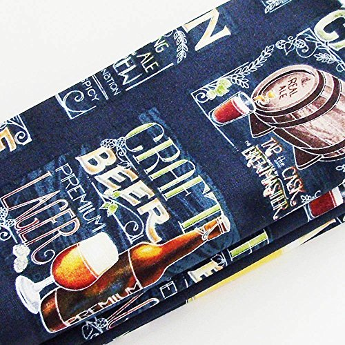 Chalkboard Style Craft Beer Cotton Napkins (Set of 4) ME2Designs Handmade Table Decor from ME2Designs